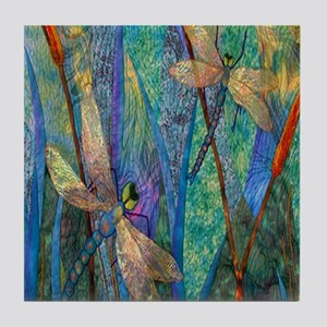DRAGONFLIES Tile Coaster